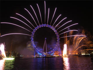 London eye fireworks live