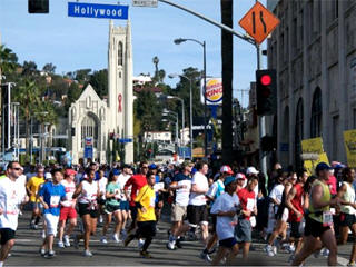 LA marathon live webcam feed