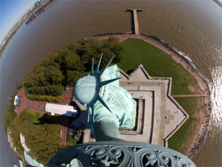 Statue of Liberty web cam torch