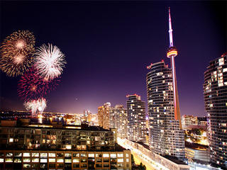 Toronto new year fireworks live